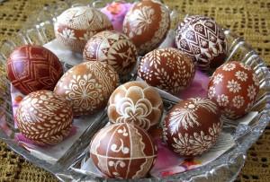 "Traditional Polish painted eggs - ""pisanki"""