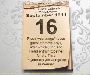 16 September 1911 - Freud was Jungs' house guest for three days, after which Jung and Freud entrain together for the Third Psychoanalytic Congress in Weimar.