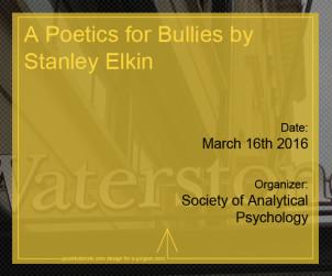A Poetics for Bullies by Stanley Elkin
